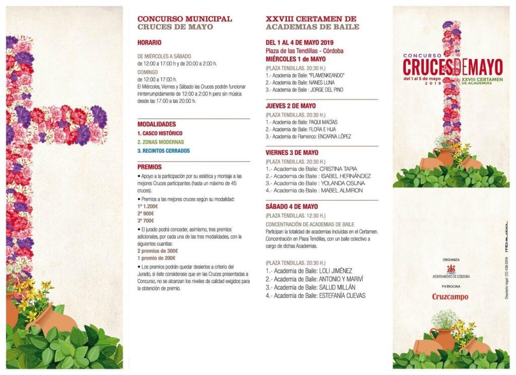Programa Cruces de Mayo Córdoba 2019