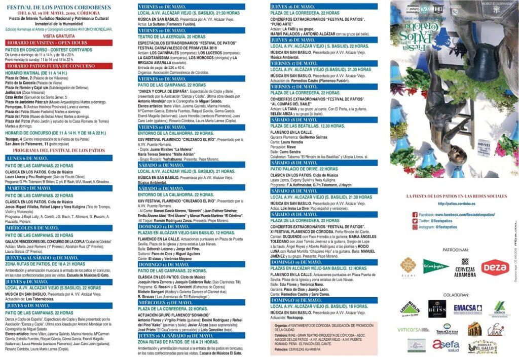 Programa Patios Córdoba 2019