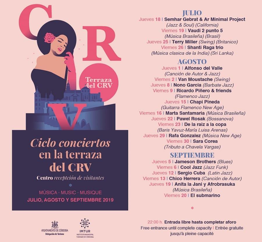 Programa Noches de Concierto en el centro de recepción de visitantes de córdoba