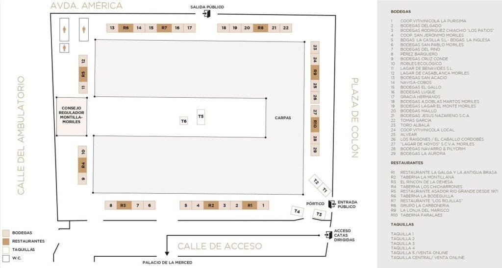 Plano Catas Vino Córdoba 2019