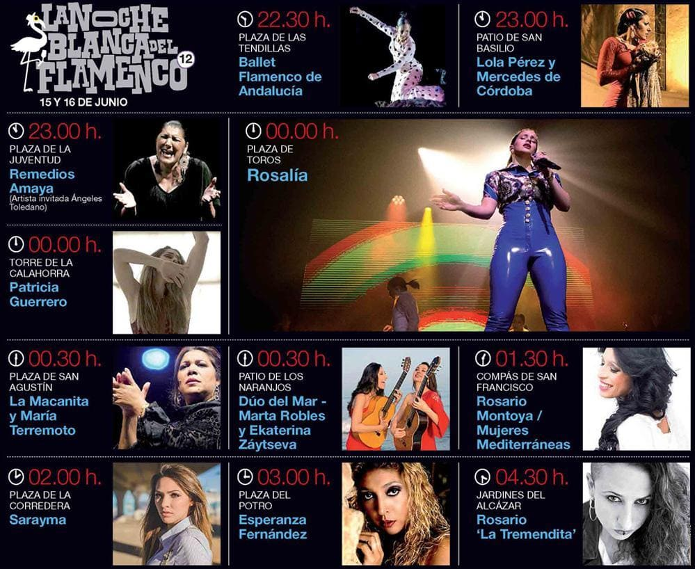 Programa Noche Blanca del Flamenco 2019
