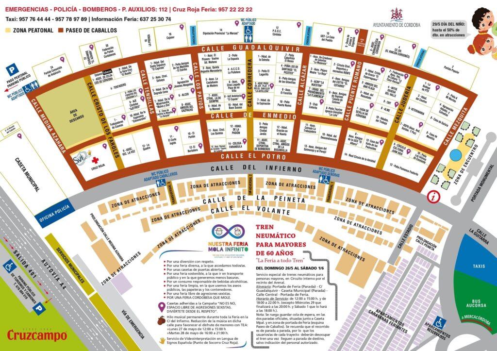 Plano Feria de Córdoba 2019