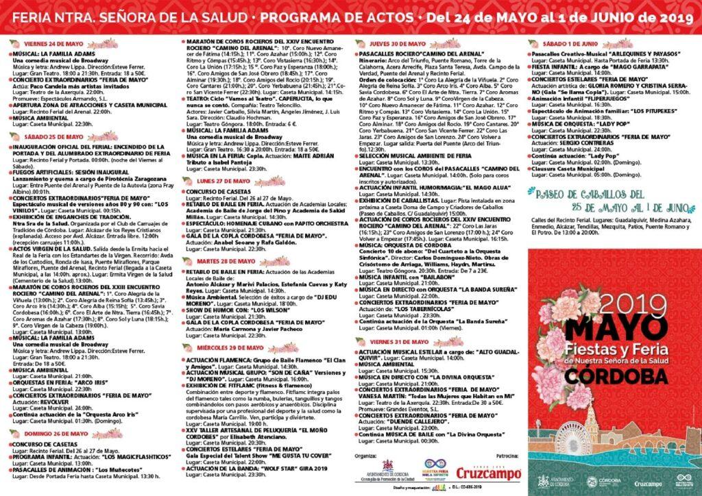Programa Feria de Córdoba 2019
