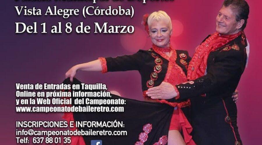 Campeonato de España y Europa de Baile Retro 2020: Del 1 al 8 de Marzo.
